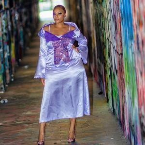 Lavender flowy skirt